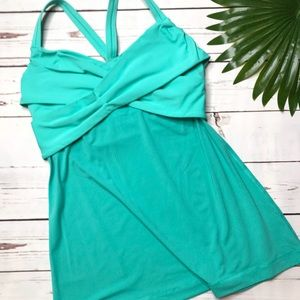 {Lululemon} sz 8 Wrap it Up tank in Bali Breeze